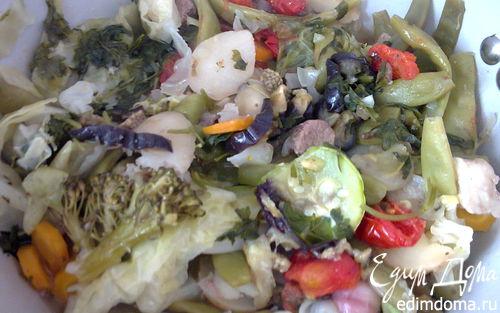 """Рецепт Тушеные овощи с мясом """"Димляма"""""""