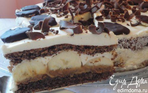 Рецепт Нежный орехово-банановый торт