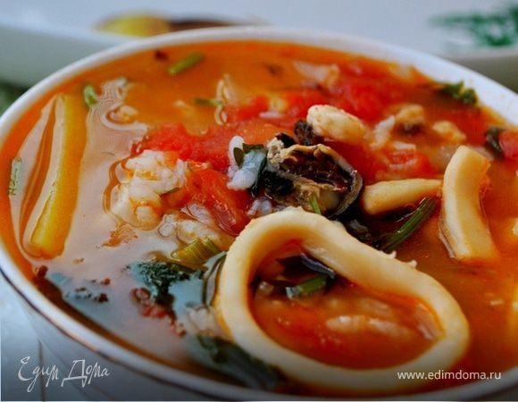 Рецепт суп томатный морепродукты