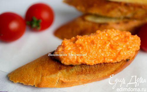 Рецепт Паштет из сыра и томатов (Almogrote Canario)