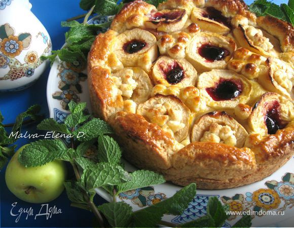 Пирог бездрожжевой с яблоками