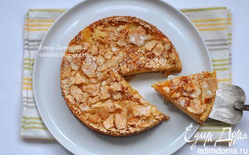 Рецепт Нежный яблочно-грушевый пирог с хрустящей корочкой