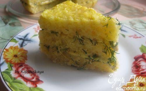 Рецепт Закусочный торт из поленты с сыром