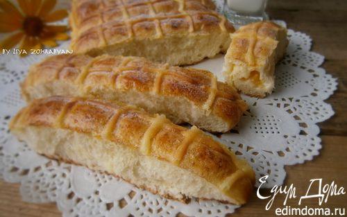 Рецепт Булочки с заварным кремом и персиком