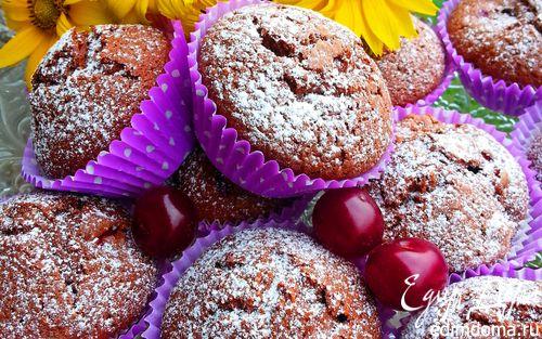 Рецепт Шоколадные кексы с вишней
