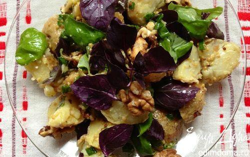 Рецепт Картофельный салат с грецким орехом и базиликом