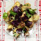 Картофельный салат с грецким орехом и базиликом