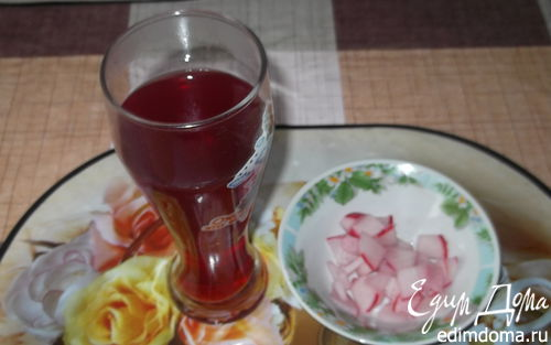 Рецепт Гарнир из редиски и редисочный чай