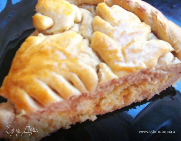 Пирог из цельнозерновой муки с капустой и домашним сыром