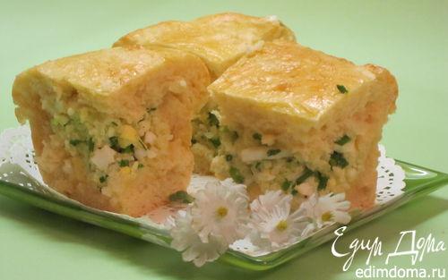 Рецепт Пирог с яйцом, зеленым луком и рисом