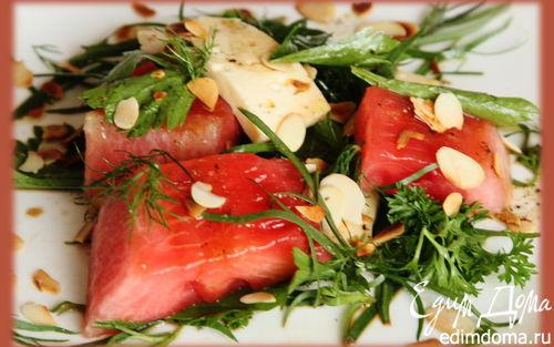 Рецепт Летний салат с жареным арбузом и брынзой