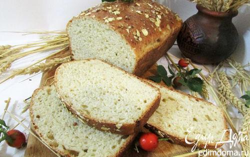 Рецепт Хлеб с творогом и овсяными хлопьями