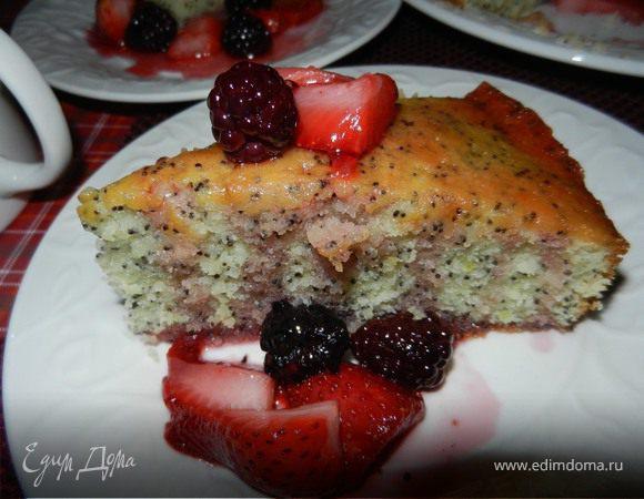 Лимонный пирог с маком (Lime poppy seed cake)
