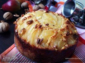 Пирог с карамелизированными грушами