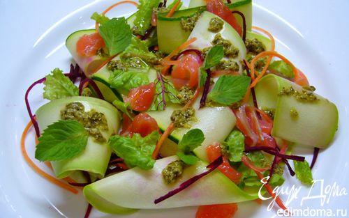 Рецепт Салат из молодых кабачков и цукини
