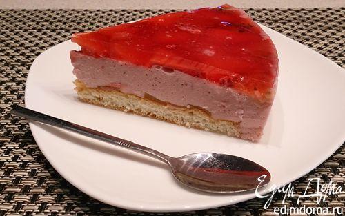 Рецепт Тарт с клубничным муссом и желе