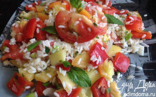 Рецепт Летний рисовый салат с овощами