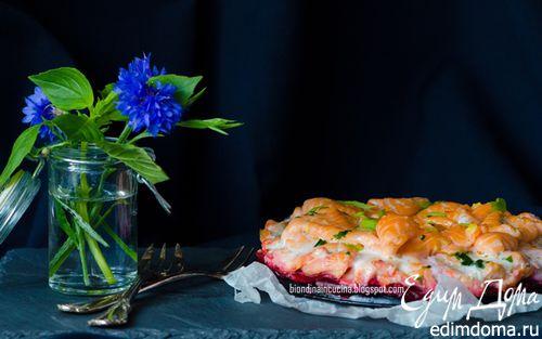 Рецепт Восхитительный торт из лосося с имбирным маслом
