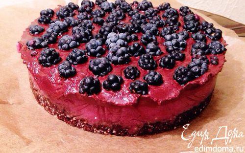 Рецепт Ежевичный торт с шоколадом (веган)