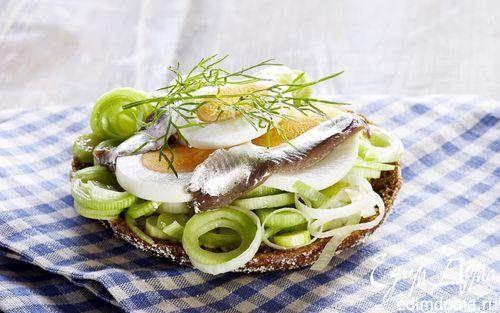 Рецепт Сэндвич с анчоусом и яйцом