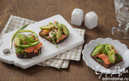 Рецепт Сэндвич с копченым лососем и авокадо