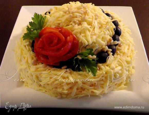 Праздничный салат «Шляпка»