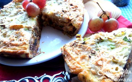 Рецепт Пирог с грибами (из лаваша)