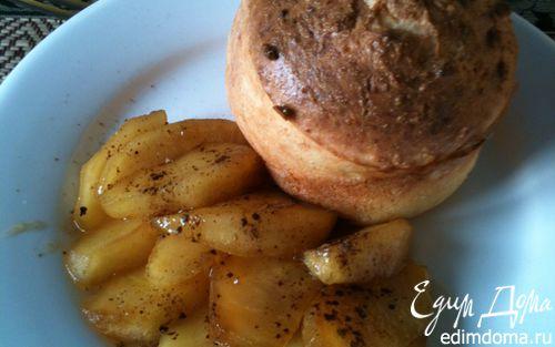 Рецепт Мини-запеканки творожные с карамелизованым яблоком и корицей