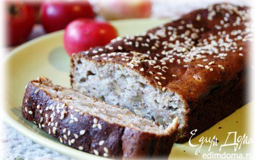 Рецепт Кекс с яблоком на основе трех видов муки