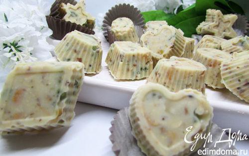 Рецепт Конфеты из белого шоколада с орешками и цукатами