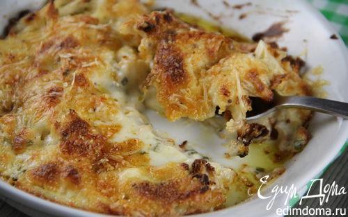 Рецепт Цветная капуста, запеченная под сырно-горчичным соусом