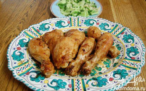 Рецепт Цыпленок по-восточному с имбирем и чесноком