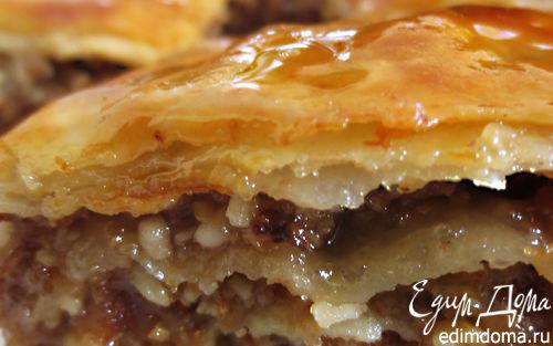 Рецепт Пирог из теста фило с медово-ореховой начинкой
