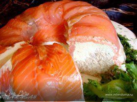 Закусочный лососево-сырный торт