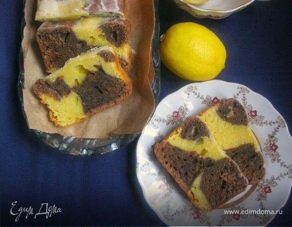 Шоколадно-лимонный кекс