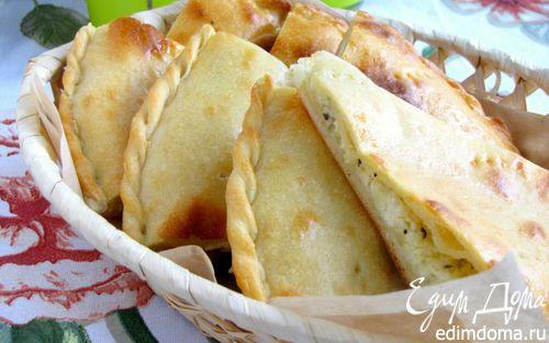 Рецепт Лепешка с моцареллой, фетой и орегано