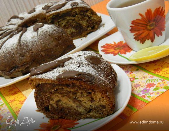 Шоколадно-банановый кекс