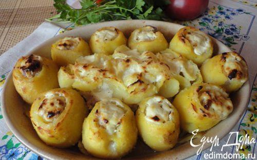 Рецепт Фаршированный мясом картофель