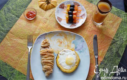 Рецепт Завтрак в красках Хеллоуин