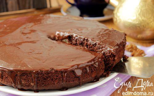 Рецепт Шоколадный пирог с грушами и орехами