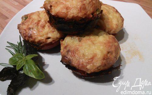 Рецепт Закусочные маффины в стаканчиках из чоризо-салями