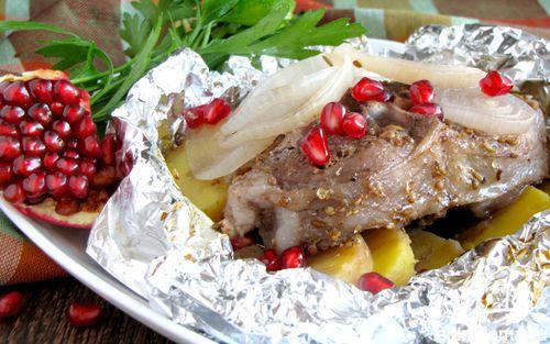 Рецепт Баранина в гранатовом соке
