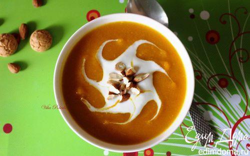 Рецепт Тыквенный суп-пюре с миндальным ароматом