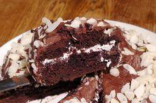 Шоколадный пирог с миндальными хлопьями