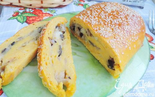 Рецепт Картофельно-тыквенный рулет с вешенками