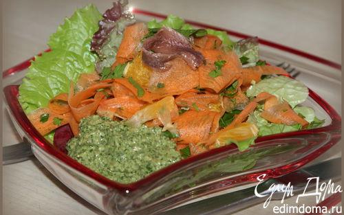Рецепт Овощной салат с маринованной свеклой