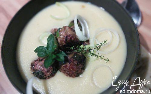 Рецепт Картофельный крем-суп с мясным шариками