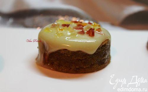 Рецепт Тыквенные пирожные под апельсиново-сметанной глазурью