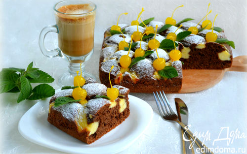Рецепт Шоколадный пирог с творожным кремом