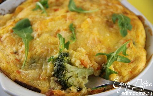 Рецепт Картофельная запеканка с брокколи и грибами